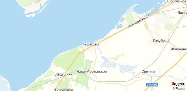 Ушаково на карте