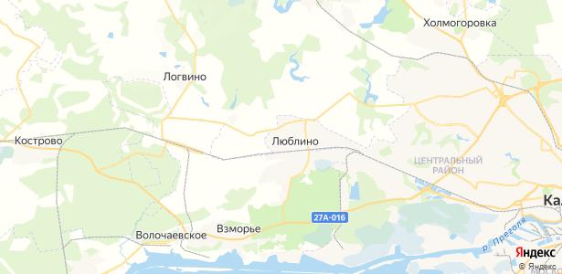 Люблино на карте