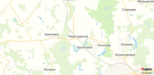 Переславское на карте