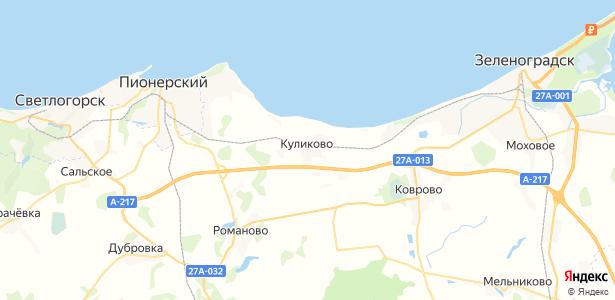 Куликово на карте
