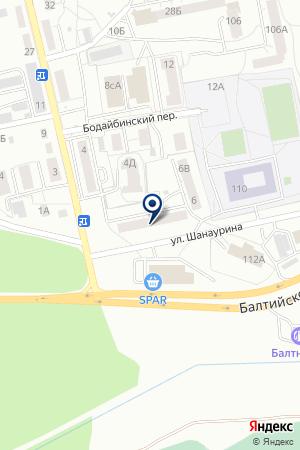 АЗС № 4 на карте Балтийска