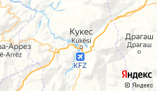 Отели города Кукес на карте