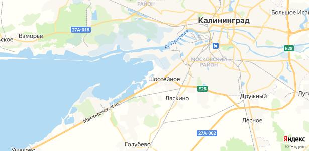Шоссейное на карте