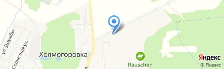 Экспедиция Хиллебранд на карте Холмогоровки