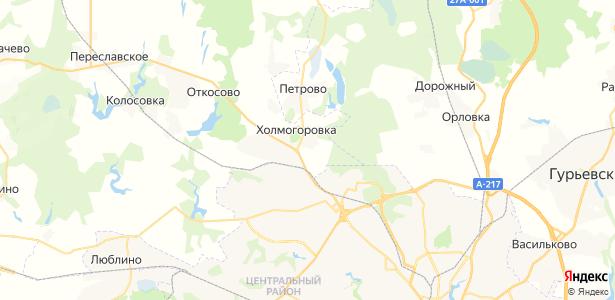 Холмогоровка на карте