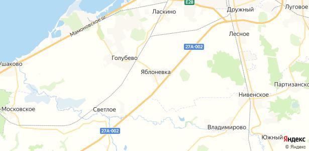 Яблоневка на карте