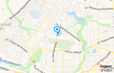 Местоположение на карте пункта техосмотра по адресу г Калининград, ул Менделеева, д 86