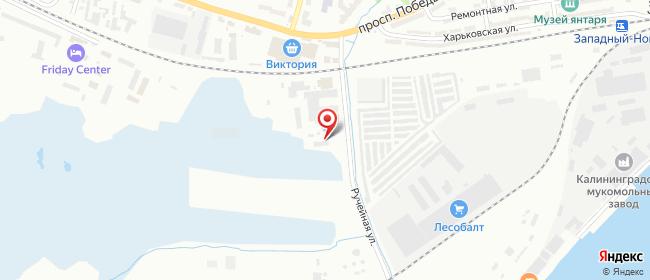 Карта расположения пункта доставки Калининград Правая в городе Калининград