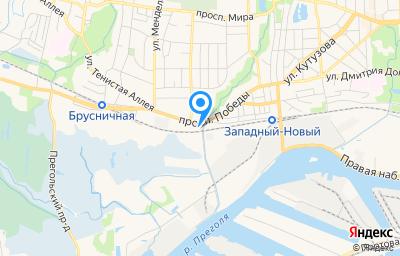 Местоположение на карте пункта техосмотра по адресу г Калининград, пр-кт Победы, д 135