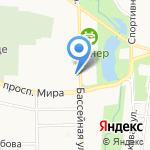 Бюро путешествий на карте Калининграда