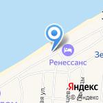 Золотая миля на карте Зеленоградска
