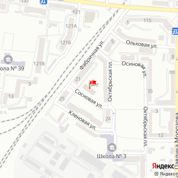 г. Калининград, ул. Сосновая,2 на карта