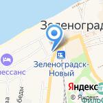 Магазин фототоваров на карте Зеленоградска