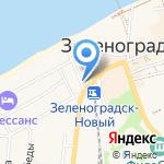 Домик Гудовича на карте Зеленоградска