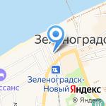 Администрация муниципального образования Зеленоградский городской округ на карте Зеленоградска