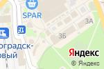 Схема проезда до компании Магазин-салон товаров для туризма и спорта в Зеленоградске