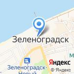 Чайка на карте Зеленоградска