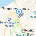 ОВД по Зеленоградскому району на карте Зеленоградска
