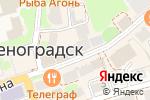 Схема проезда до компании Янтарный мир в Зеленоградске