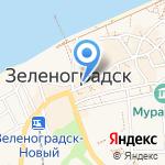 Янтарный Комбинат на карте Зеленоградска