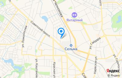 Местоположение на карте пункта техосмотра по адресу г Калининград, ул Третьяковская, д 4