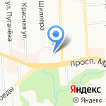 Колибри на карте Калининграда