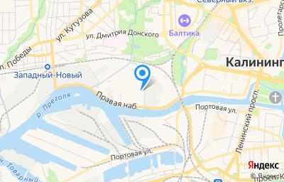 Местоположение на карте пункта техосмотра по адресу г Калининград, наб Правая, д 5А