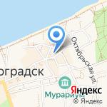 Федеральная служба государственной статистики по Калининградской области на карте Зеленоградска