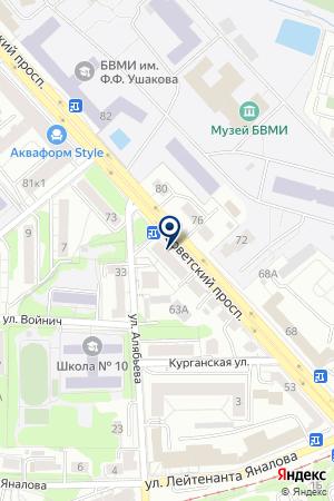 ТФ МОТОР-ПЛЮС на карте Советска