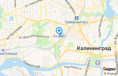 Местоположение на карте пункта техосмотра по адресу г Калининград, пер Дмитрия Донского, д 7