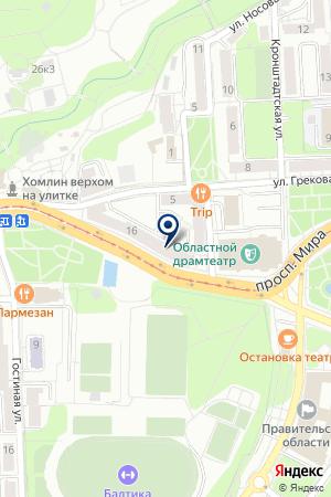 КАФЕ ГАВАНА на карте Калининграда