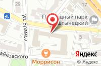 Схема проезда до компании Радуга С в Калининграде