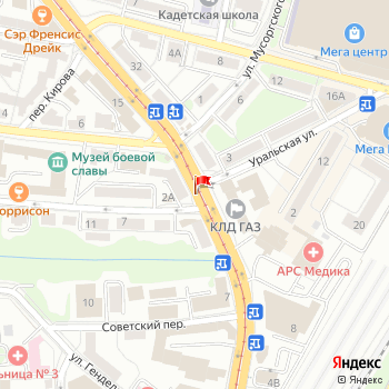 г. Калининград, ул. Чайковского,2 на карта