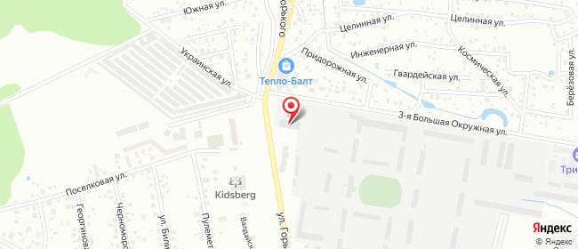 Карта расположения пункта доставки DPD Pickup в городе Калининград