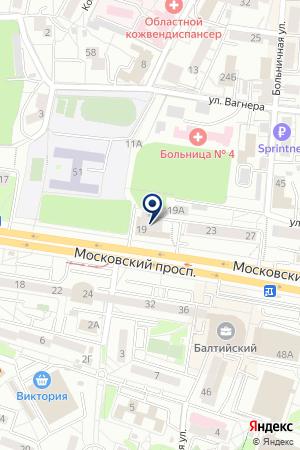 КАФЕ БЕРЕЗКА на карте Калининграда