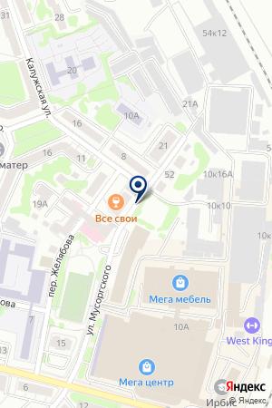ТУРБЮРО АЛЛЕС на карте Калининграда