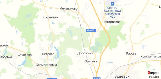 Рябиновка на карте