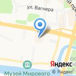 Даксер на карте Калининграда