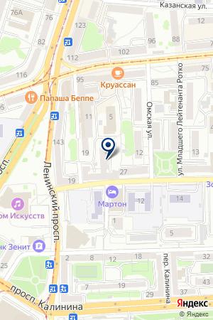 СТОЛОВАЯ РОМБ на карте Калининграда