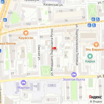 г. Калининград, ул. Ротко, на карта