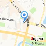 Европлан на карте Калининграда
