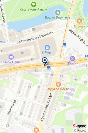 АВТОСТАНЦИЯ ЖЕЛЕЗНОДОРОЖНЫЙ на карте Черняховска
