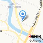 Русалочка на карте Калининграда