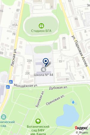 БАЛТИЙСКИЙ КОЛЛЕДЖ ЭКОНОМИКИ И ТУРИЗМА на карте Калининграда