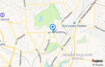 Местоположение на карте пункта техосмотра по адресу г Калининград, ул Островского, д 4