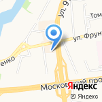 Западные перекрестки на карте Калининграда