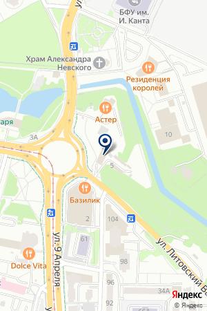 КОМПЬЮТЕРНАЯ ФИРМА ЕВРОКОМП на карте Калининграда