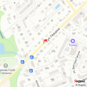 г. Калининград, ул. Герцена, на карта