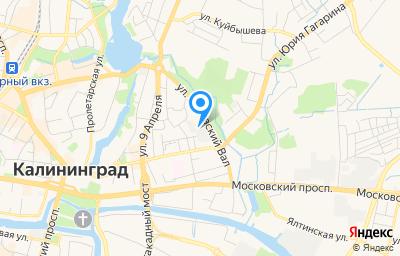 Местоположение на карте пункта техосмотра по адресу г Калининград, ул Грига, д 54 стр з