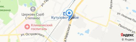 Балткран на карте Калининграда